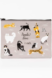 Blue Q Cat Zipper Pouch - Product Mini Image