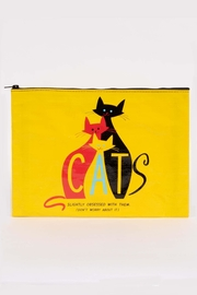 Blue Q Cats Jumbo Pouch - Product Mini Image