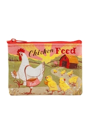Blue Q Chicken-Feed Coin Pouch - Front cropped