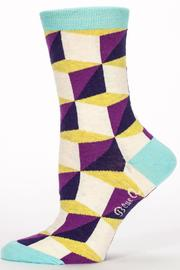 Blue Q Deal With Me Socks - Front full body