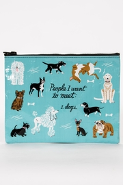 Blue Q Dog Zipper Pouch - Product Mini Image
