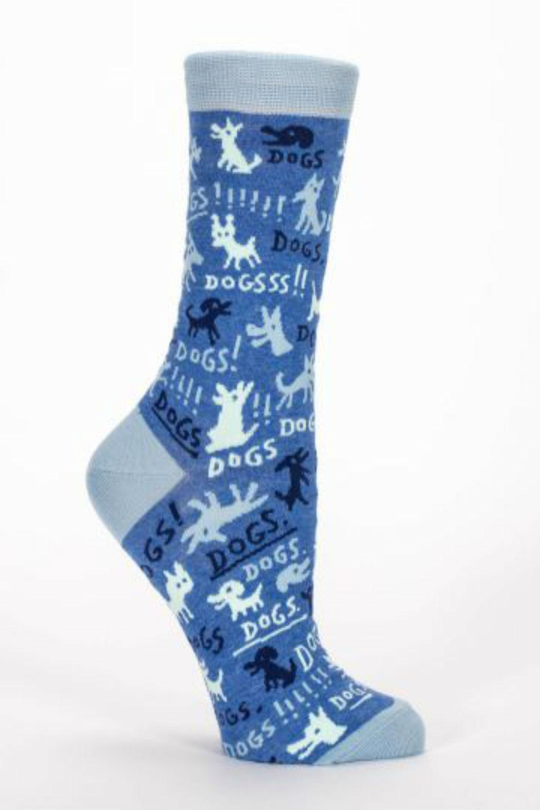 Blue Q Dogs Sock - Front Cropped Image
