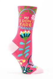 Blue Q Don't Care Socks - Front cropped