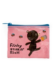 Blue Q Filthy-Rich Coin Purse - Product Mini Image