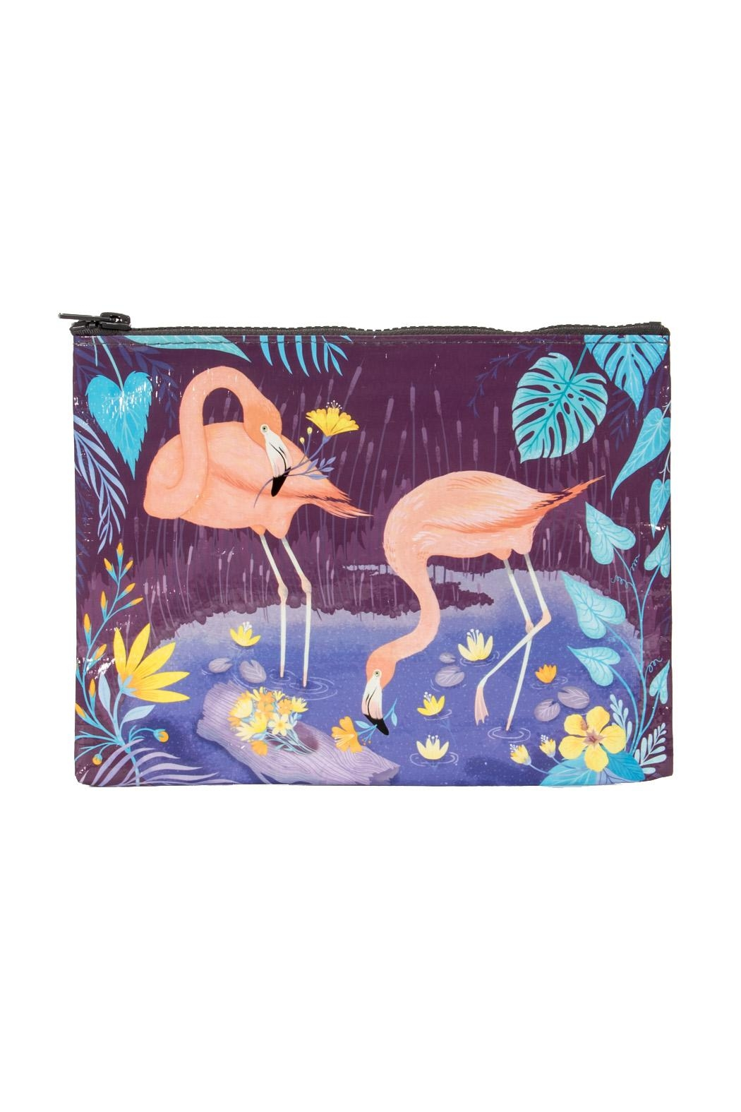 Blue Q Flamingo Zipper Pouch - Front Cropped Image