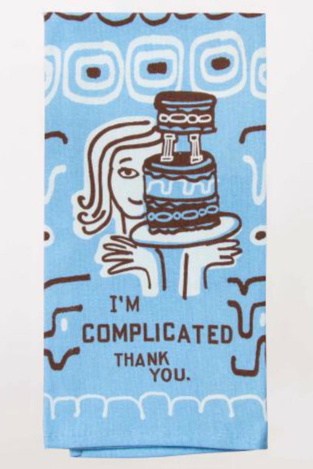 Blue Q I'm Complicated Dishtowel - Main Image