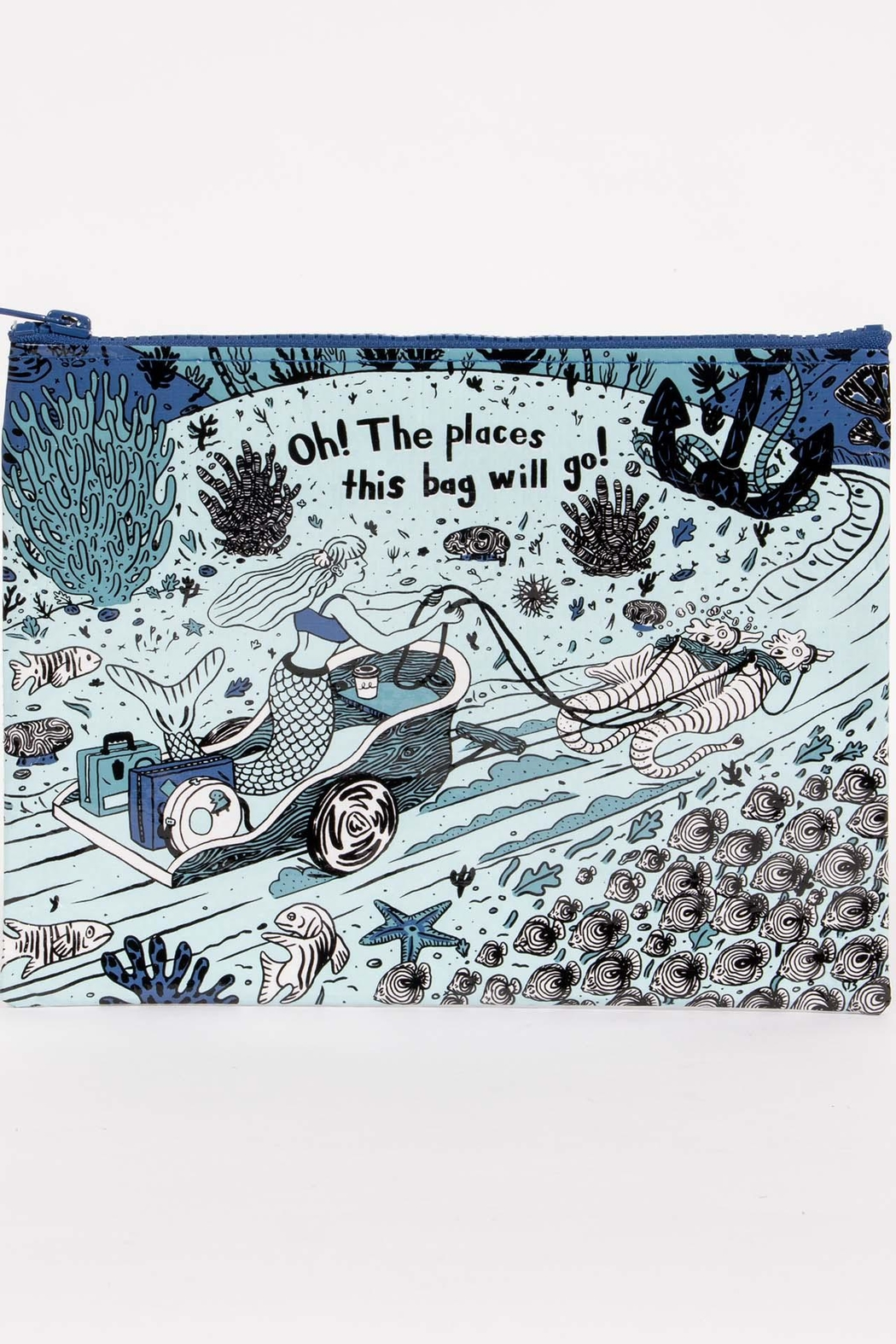 Blue Q Mermaid Zipper Pouch - Main Image