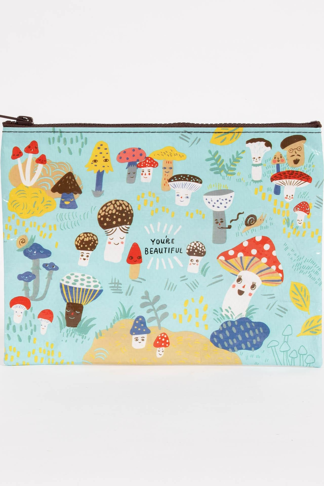 Blue Q Mushroom Zipper Pouch - Front Cropped Image