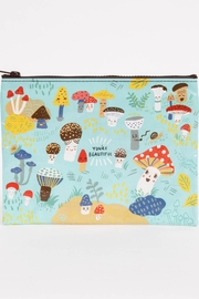 Blue Q Mushroom Zipper Pouch - Front cropped