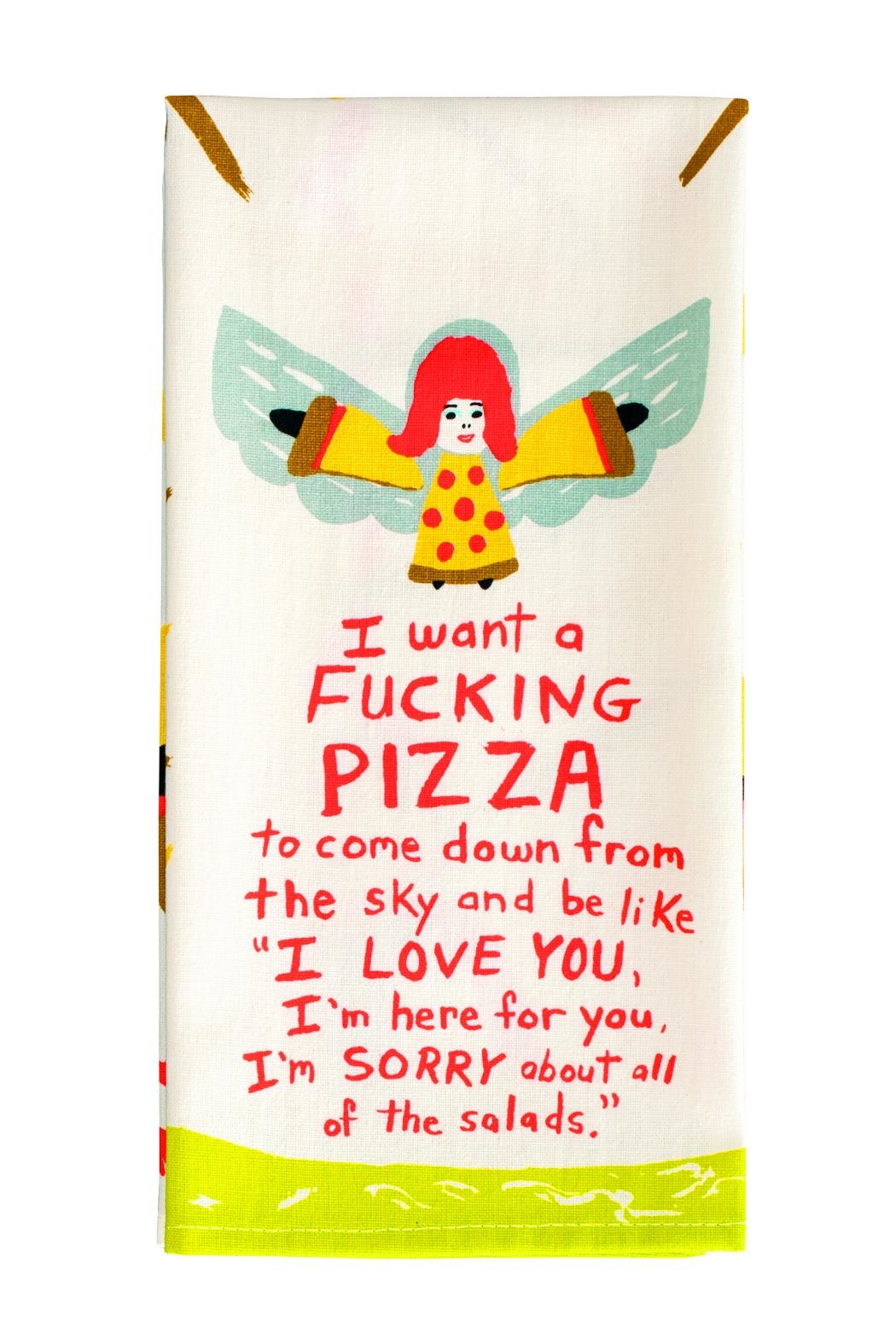 Blue Q Pizza Dish Towel - Front Cropped Image