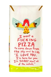 Blue Q Pizza Dish Towel - Front cropped