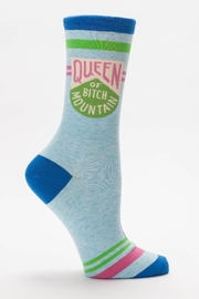Blue Q Queen Of The Mountain Socks - Front cropped