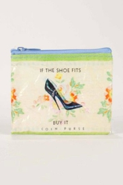 Blue Q Shoe Coin Purse - Front cropped