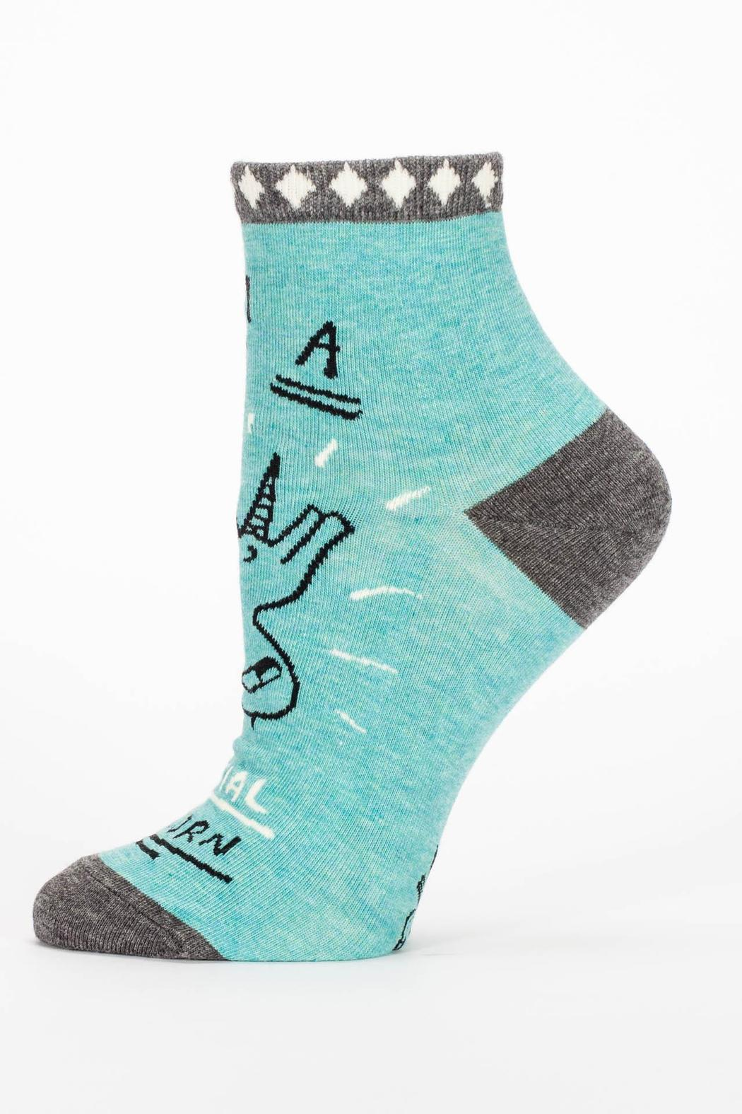 Blue Q Special Unicorn Socks - Side Cropped Image