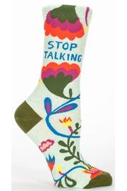 Blue Q Stop Talking Socks - Front cropped