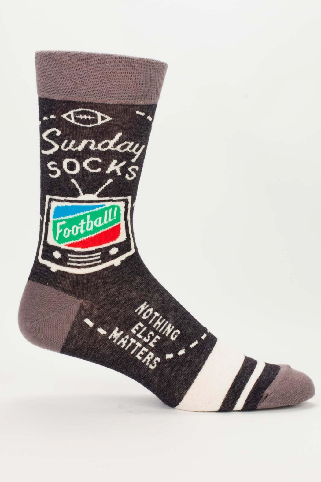 Blue Q Sunday Football Socks - Front Cropped Image
