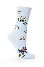 Blue Q Up Yours Socks - Front cropped