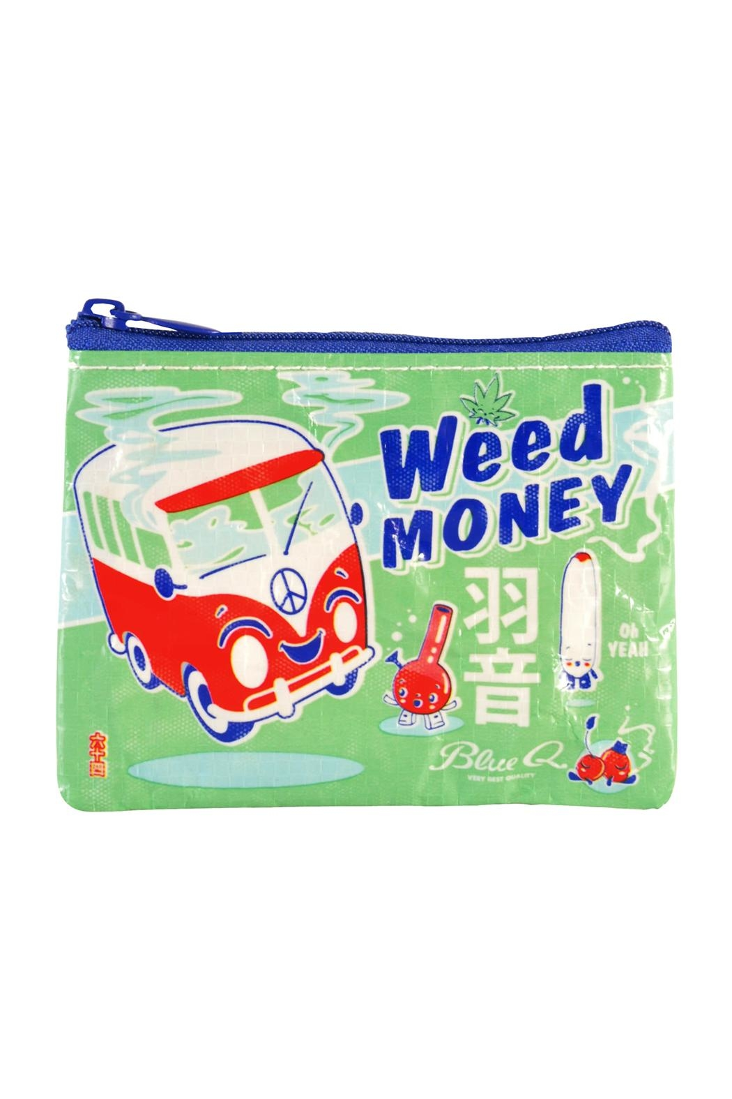 Blue Q Weed-Money Coin Bag - Main Image