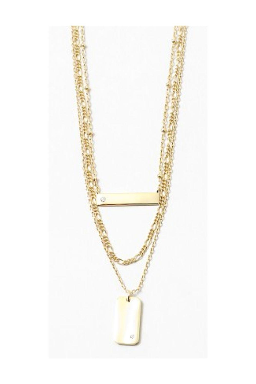 Lets Accessorize Gold Bar Chain - Main Image