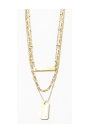 Lets Accessorize Gold Bar Chain - Front cropped