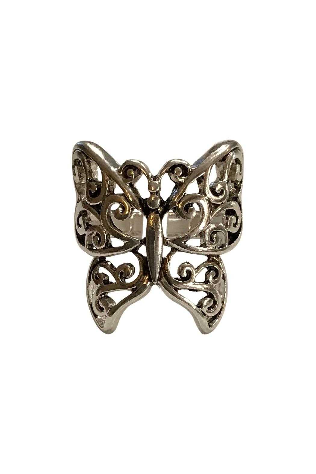 Bluebell Butterfly Stretch Ring - Main Image