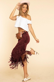 bluebuttercup Mineral Dye Fringe Skirt - Front cropped