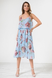 Urban Touch Bluefloral Pleated Camimididress - Product Mini Image