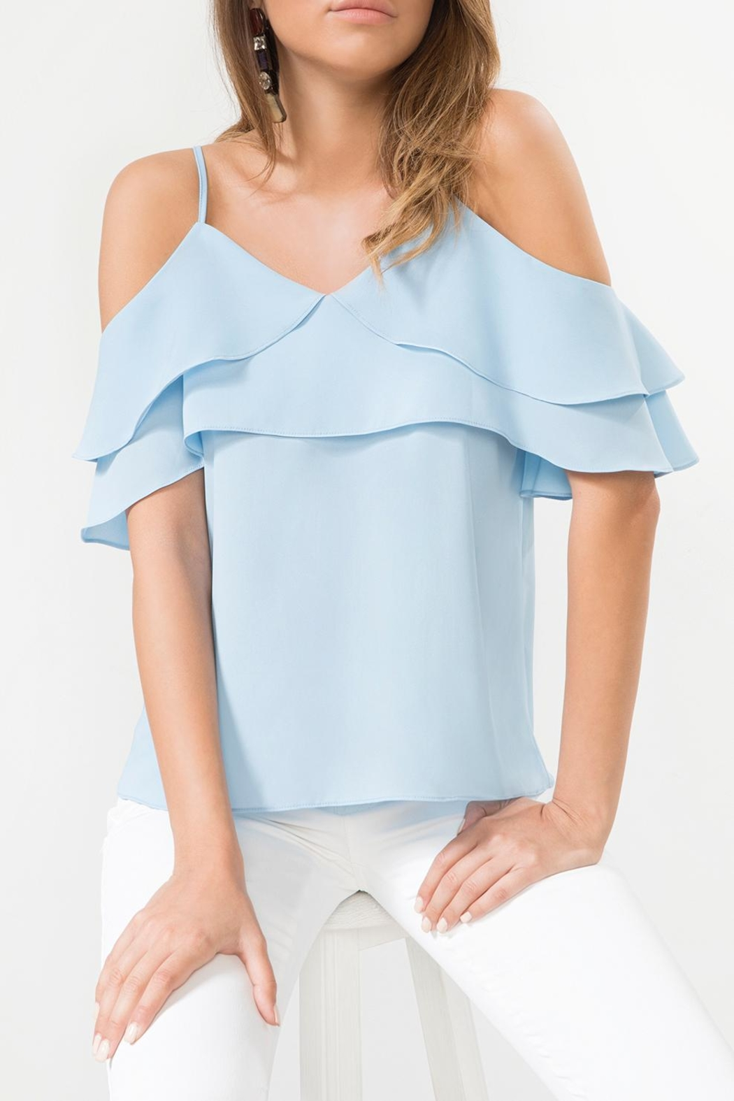 Urban Touch Bluefrill Coldshoulder Camitop - Front Full Image