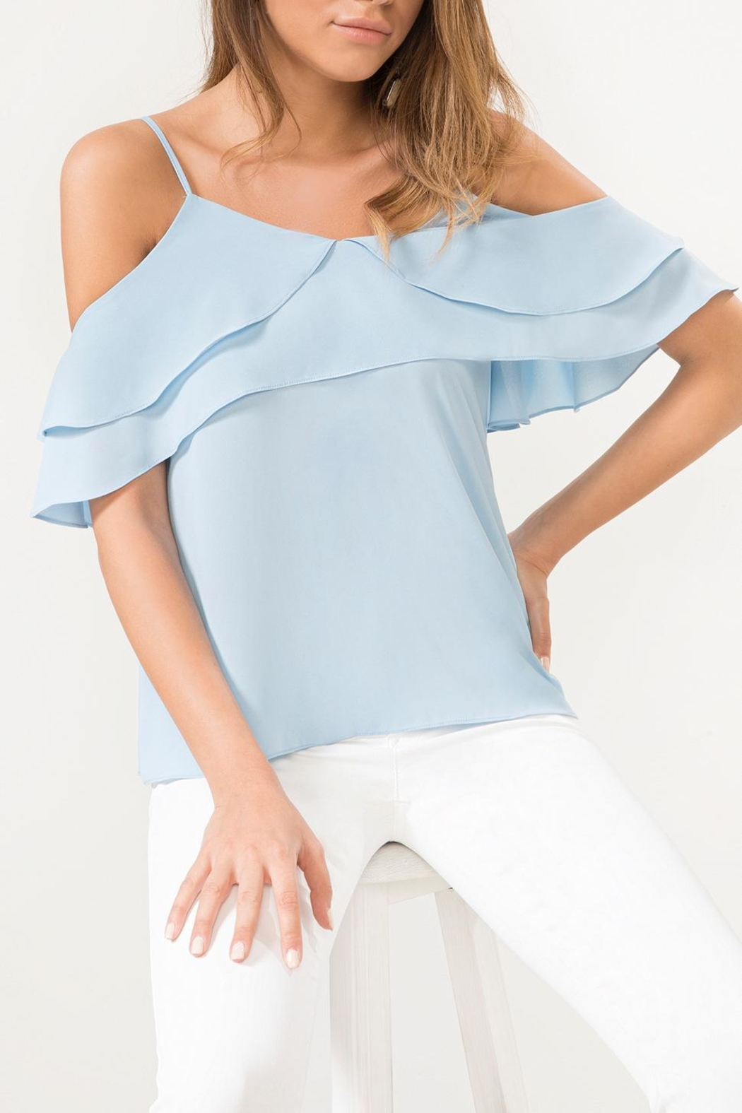 Urban Touch Bluefrill Coldshoulder Camitop - Side Cropped Image