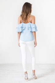 Urban Touch Bluefrill Coldshoulder Camitop - Back cropped