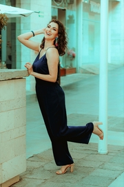 Street Glam Bluenavy Mia Jumpsuit - Front cropped