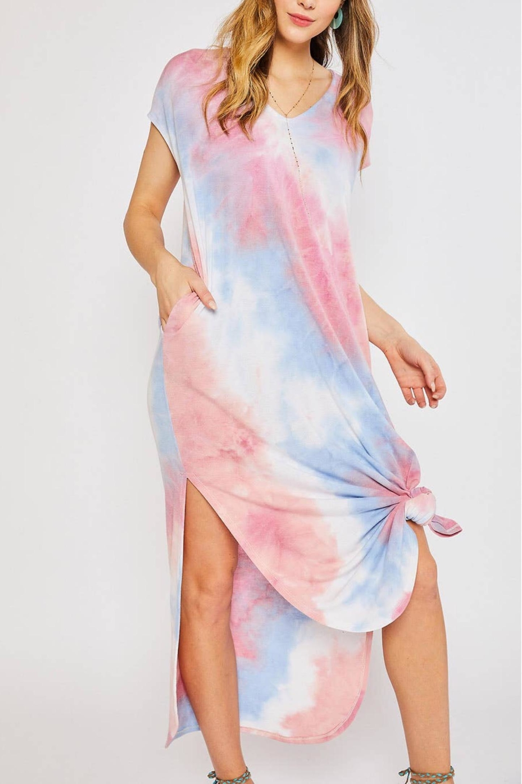 Bluivy Tie Dye Maxi - Side Cropped Image
