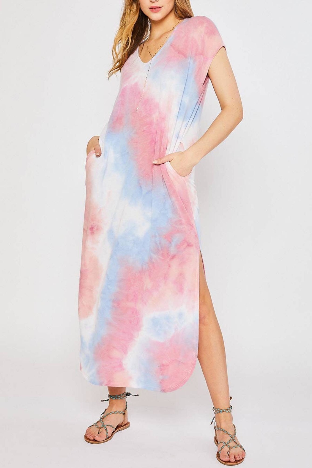 Bluivy Tie Dye Maxi - Back Cropped Image