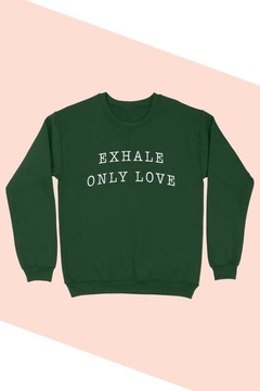 BLUME + CO. Plus Size Exhale Only Love Graphic Sweatshirt - Alternate List Image