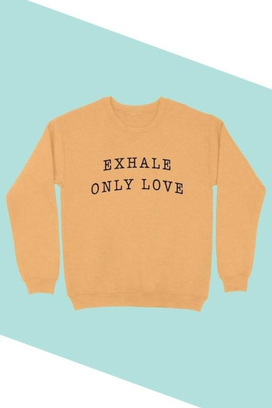 BLUME + CO. Plus Size Exhale Only Love Graphic Sweatshirt - Front Cropped Image