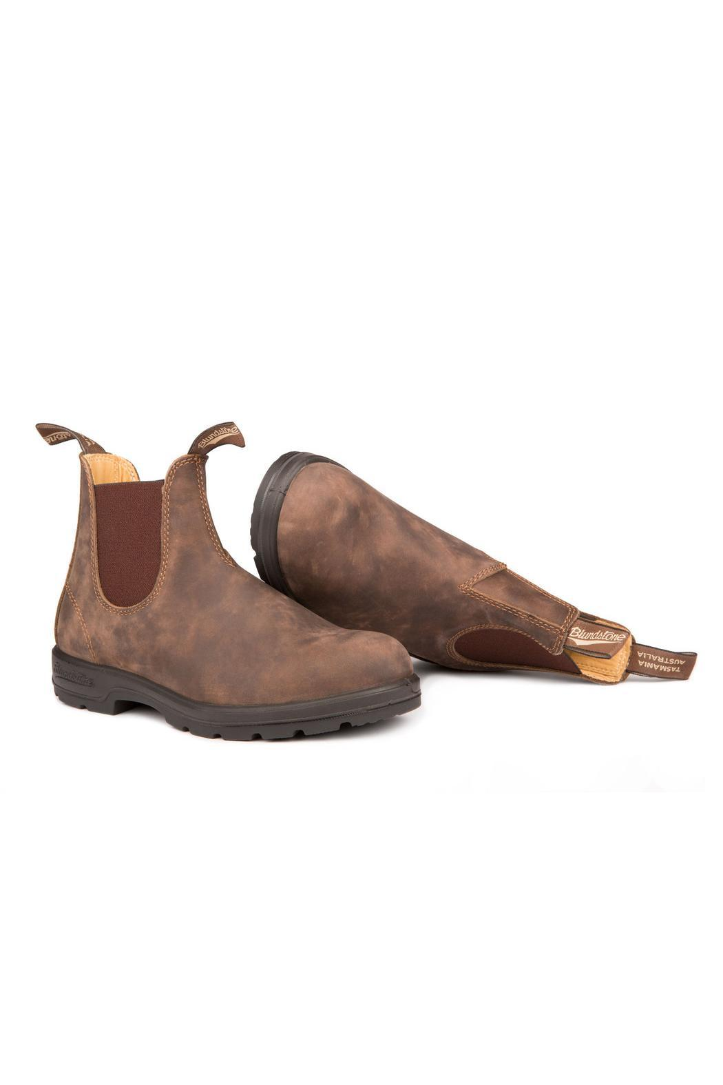 Blundstone  585 Rustic Brown Boot - Side Cropped Image