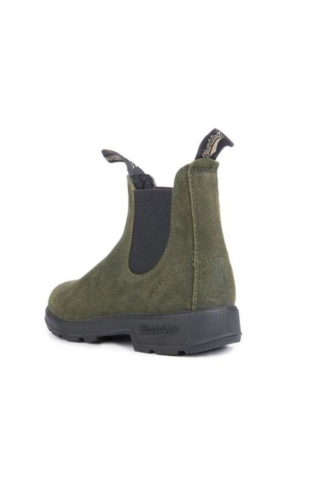 Blundstone  Olive Leather Boot - Side Cropped Image