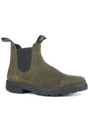 Blundstone  Olive Leather Boot - Front full body