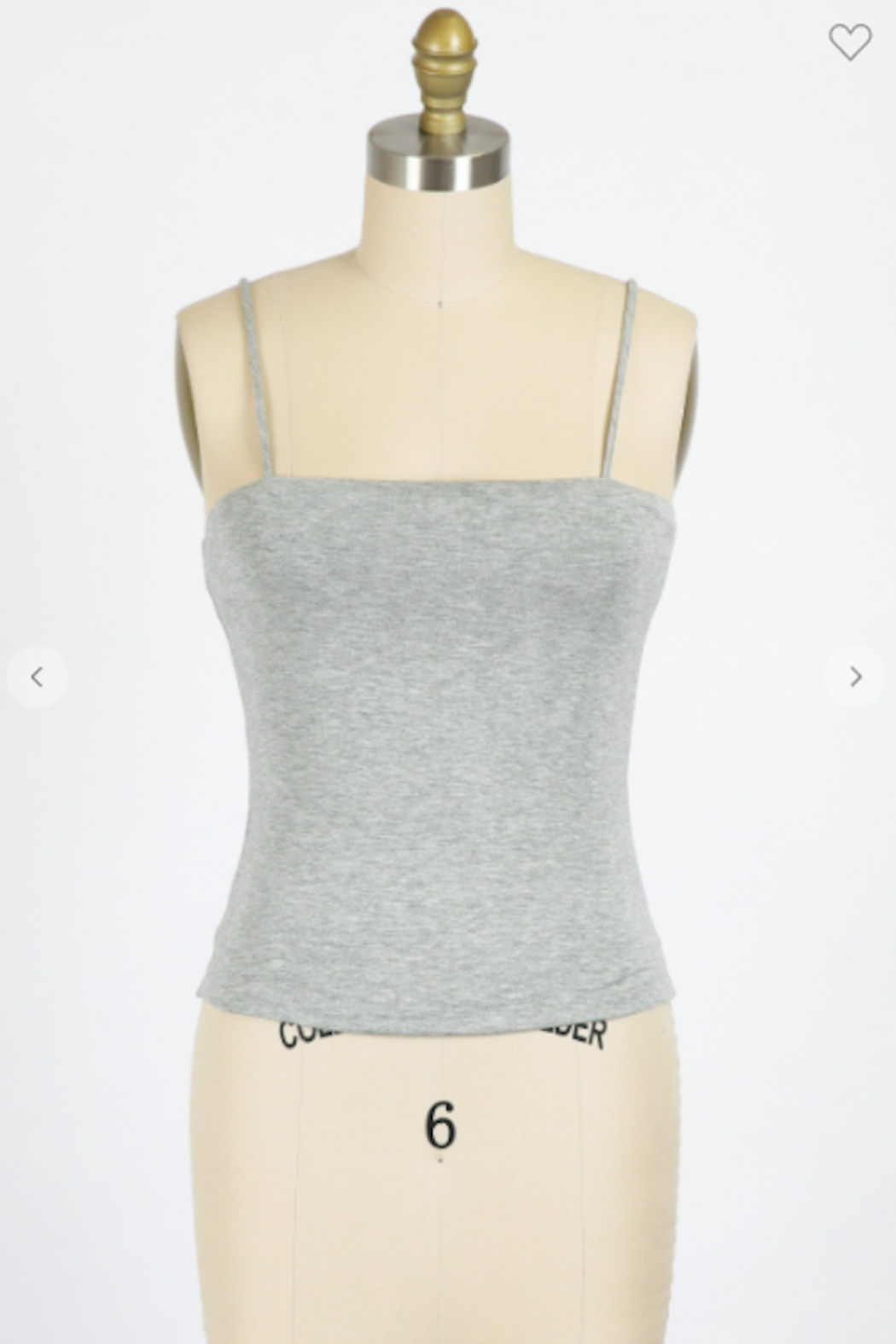 Final Touch Blunt Neckline Cami Top - Front Full Image