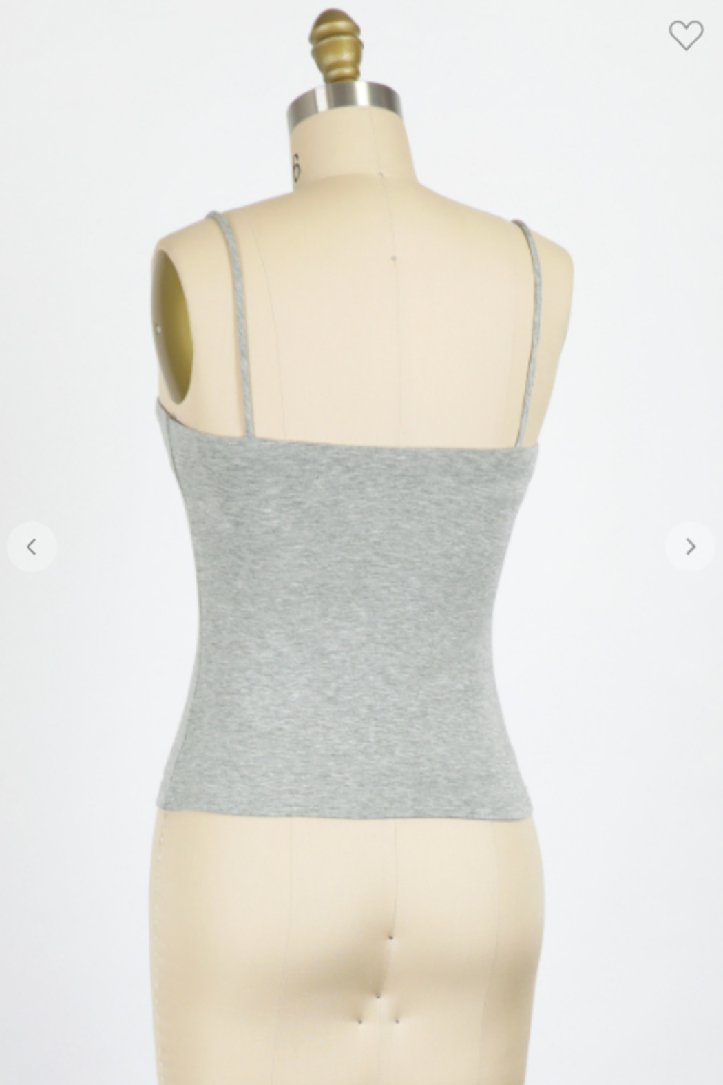 Final Touch Blunt Neckline Cami Top - Side Cropped Image