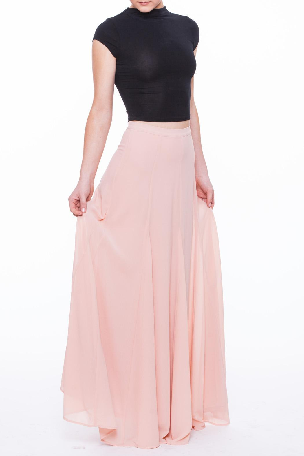 Champagne & Strawberry Blush Maxi Skirt from South Carolina by ...