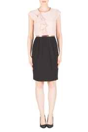 Joseph Ribkoff Blush/black Belted Dress - Product Mini Image
