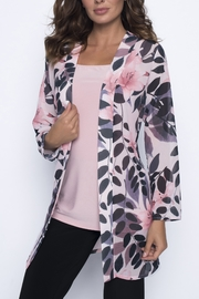 Frank Lyman Blush & Black Floral Print  Top 191405 - Product Mini Image