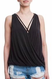 Blush Black Surplice Top - Product Mini Image