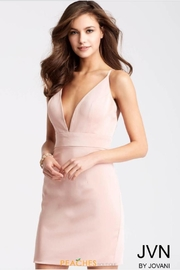 Jovani Blush Cocktail Dress - Product Mini Image