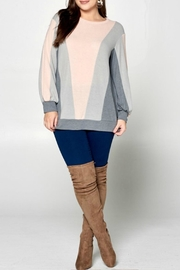 Emerald Blush Colorblock Sweater - Product Mini Image