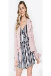 Sugar Lips Blush Crop Trench - Front cropped