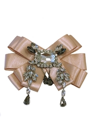 L'Imagine Blush Crystal Brooch - Front cropped