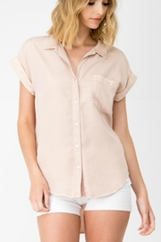Sneak Peek Blush Denim Shirt - Product Mini Image