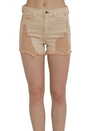 Sneak Peek Blush Distressed Shorts - Product Mini Image